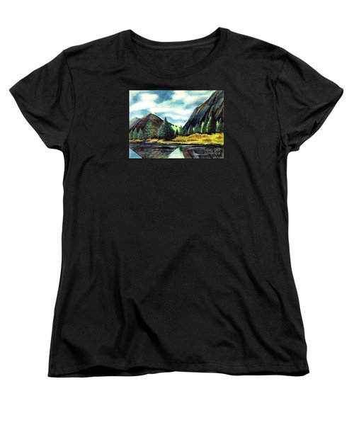 Women's T-Shirt (Standard Cut) featuring the painting Solitude by Patricia Griffin Brett
