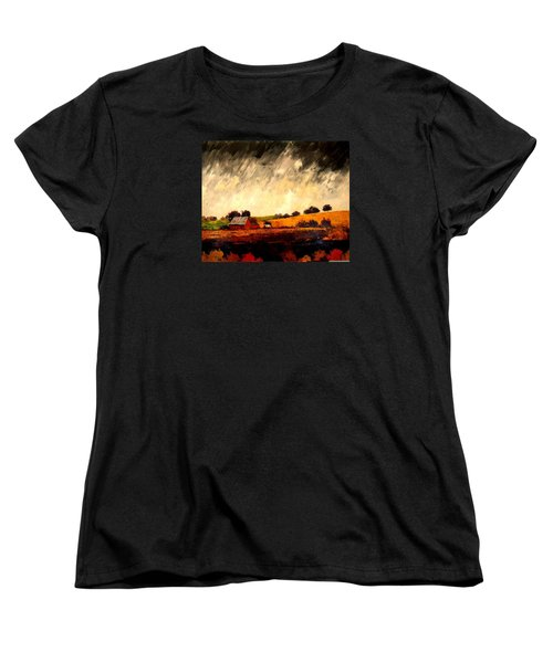 Women's T-Shirt (Standard Cut) featuring the painting Somewhere Else by William Renzulli