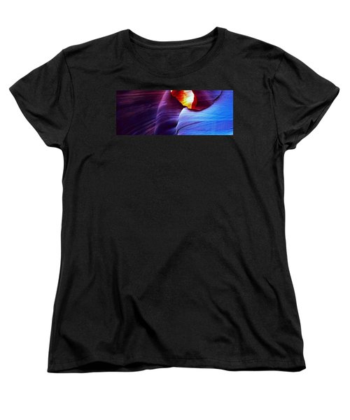 Women's T-Shirt (Standard Cut) featuring the photograph Somewhere In America Series - Blue In Antelope Canyon by Lilia D