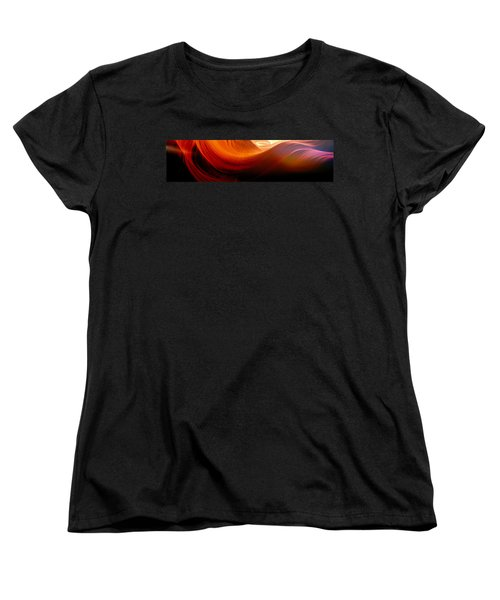 Women's T-Shirt (Standard Cut) featuring the photograph Somewhere In America Series - Red Waves In Antelope Canyon by Lilia D