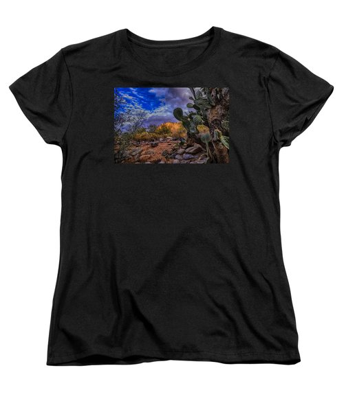 Women's T-Shirt (Standard Cut) featuring the photograph Sonoran Desert 54 by Mark Myhaver