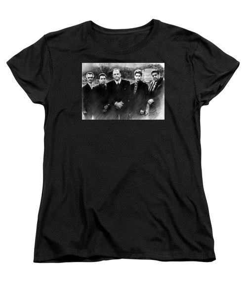Sopranos James Gandolfini Women's T-Shirt (Standard Cut) by Viola El