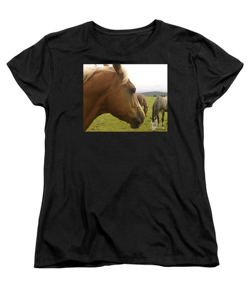 Sorrel Horse Profile Women's T-Shirt (Standard Cut) by Belinda Greb