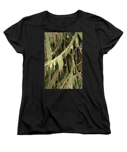 Spanish Moss In Olympic National Park Women's T-Shirt (Standard Cut) by Connie Fox