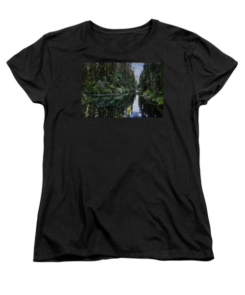 Spawning A River Women's T-Shirt (Standard Cut) by Belinda Greb