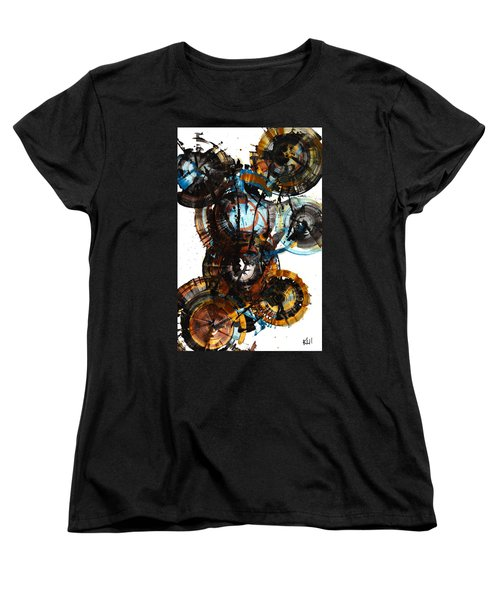 Women's T-Shirt (Standard Cut) featuring the painting Spherical Joy Series - 995.042212 by Kris Haas