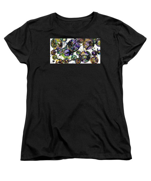 Women's T-Shirt (Standard Cut) featuring the painting Spherical Purple Haze - 1510.021413 by Kris Haas