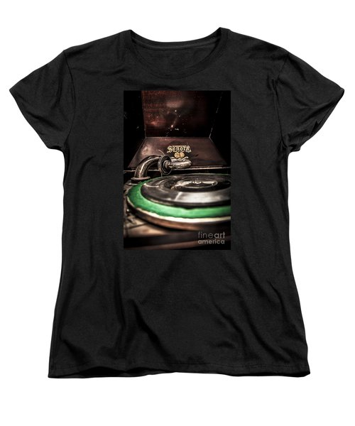 Spin That Record Women's T-Shirt (Standard Cut) by Darcy Michaelchuk