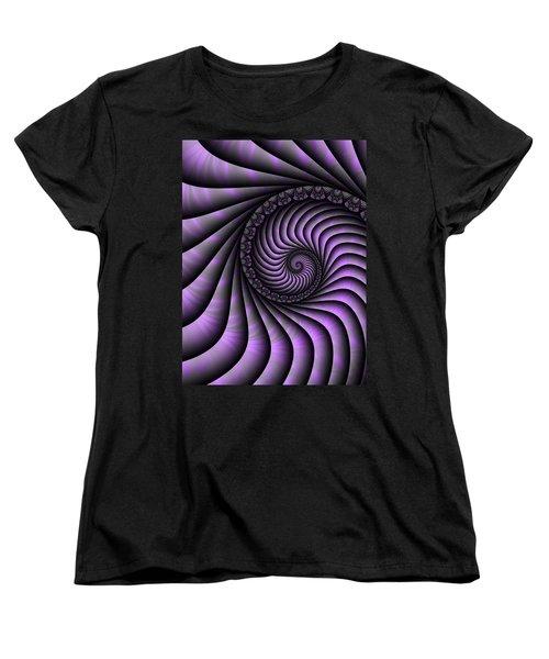 Spiral Purple And Grey Women's T-Shirt (Standard Cut) by Gabiw Art
