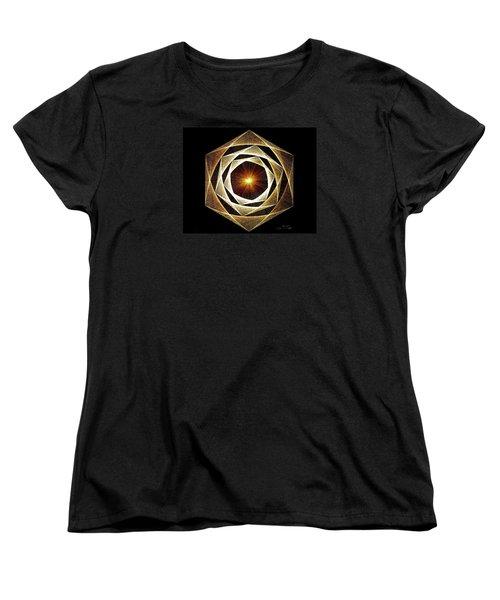Women's T-Shirt (Standard Cut) featuring the drawing Spiral Scalar by Jason Padgett