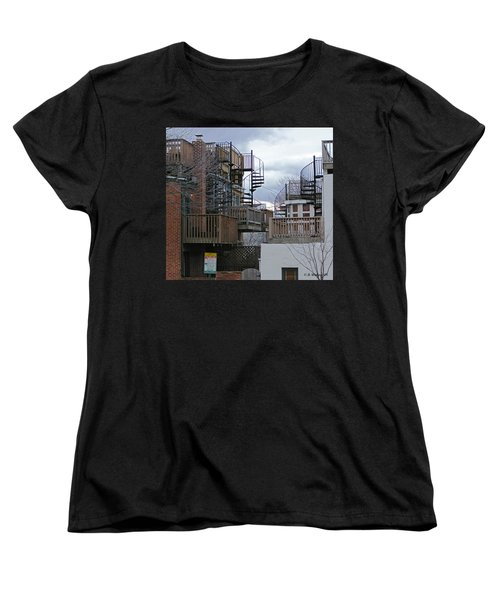 Women's T-Shirt (Standard Cut) featuring the photograph Spiral Stairs by Brian Wallace
