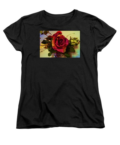 Splendid Painted Rose Women's T-Shirt (Standard Cut) by Luther Fine Art