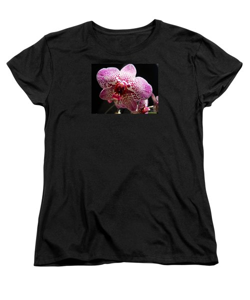 Women's T-Shirt (Standard Cut) featuring the photograph Spotted Purple Orchid by Ramona Matei