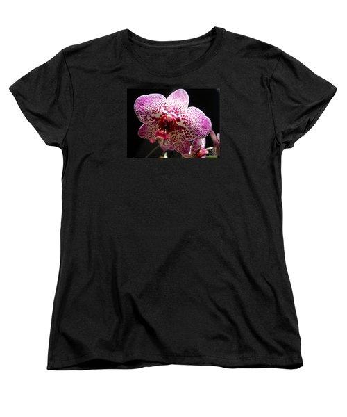 Spotted Purple Orchid Women's T-Shirt (Standard Cut) by Ramona Matei