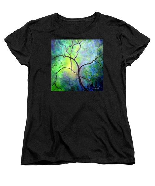 Spring Catawba Tree Women's T-Shirt (Standard Cut) by Jodie Marie Anne Richardson Traugott          aka jm-ART