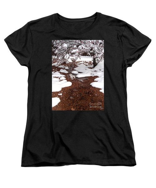 Women's T-Shirt (Standard Cut) featuring the photograph Spring Into Winter by Kerri Mortenson