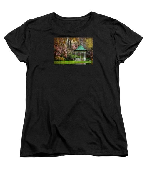 Women's T-Shirt (Standard Cut) featuring the photograph Spring Magnolia Garden At Magnolia Plantation by Kathy Baccari