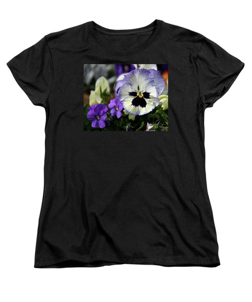 Spring Pansy Flower Women's T-Shirt (Standard Cut) by Ed  Riche