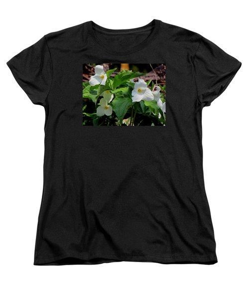 Springtime Trillium Women's T-Shirt (Standard Cut) by David T Wilkinson