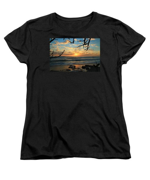 Spying At The Sun Women's T-Shirt (Standard Cut) by Catie Canetti