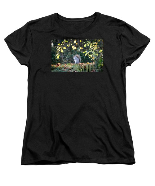 Women's T-Shirt (Standard Cut) featuring the photograph Squirrel Perched by Matt Malloy