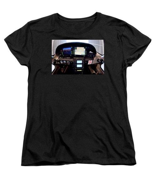 Sr22 Cockpit Women's T-Shirt (Standard Cut) by Paul Job