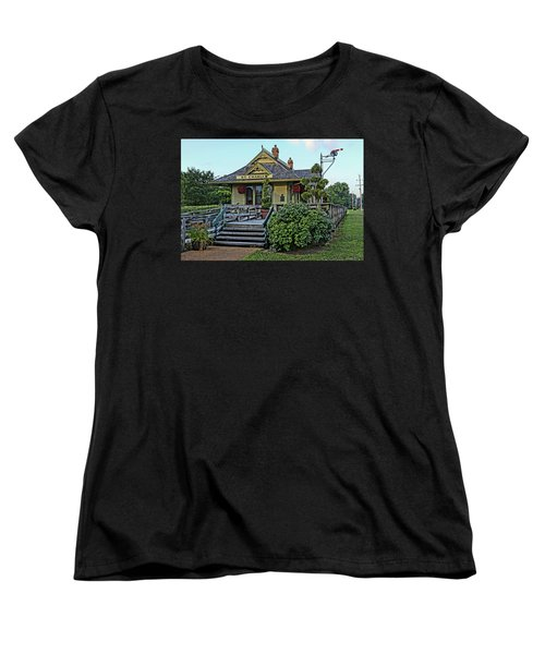St Charles Station On The Katty Trail Look West Dsc00849 Women's T-Shirt (Standard Cut) by Greg Kluempers