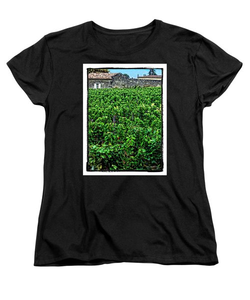 Women's T-Shirt (Standard Cut) featuring the photograph St. Emilion Winery by Joan  Minchak