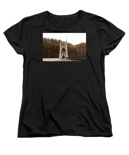 St. John's Bridge Women's T-Shirt (Standard Cut) by Patricia Babbitt