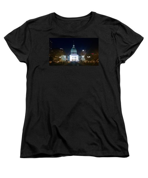 St. Louis At Night Women's T-Shirt (Standard Cut) by Chris Tarpening