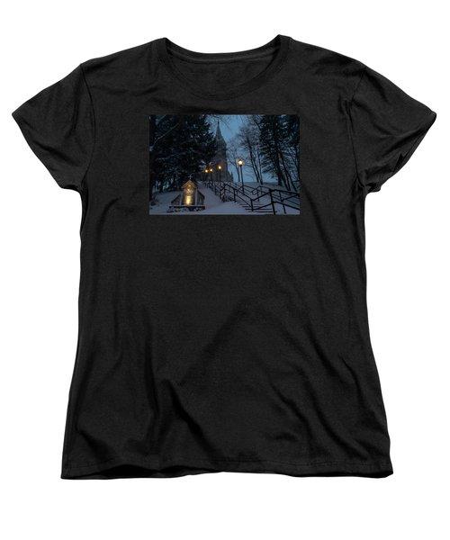 St Mary's Christmas Women's T-Shirt (Standard Cut) by James  Meyer