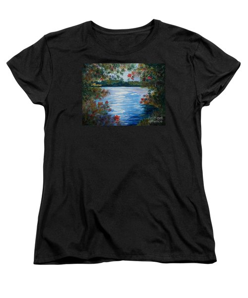 St. Regis Lake Women's T-Shirt (Standard Cut) by Ellen Levinson
