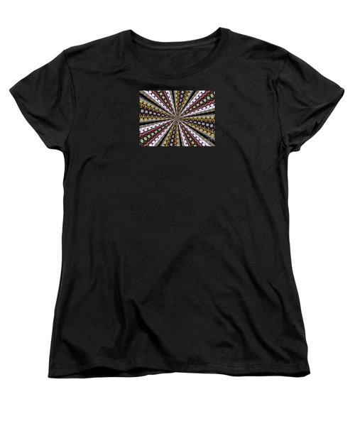 Stained Glass Kaleidoscope 1 Women's T-Shirt (Standard Cut) by Rose Santuci-Sofranko