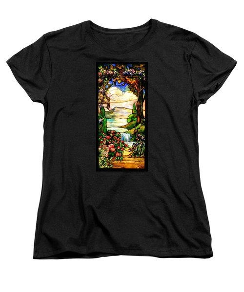 Stained Glass Women's T-Shirt (Standard Cut) by Kristin Elmquist