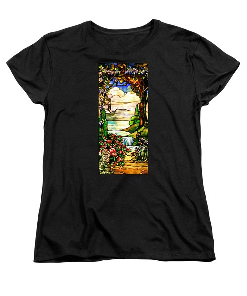 Women's T-Shirt (Standard Cut) featuring the photograph Stained Glass No Border by Kristin Elmquist