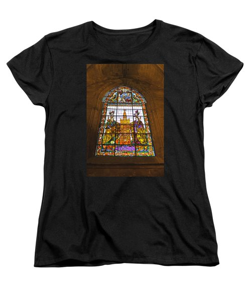 Stained Glass Window In Seville Cathedral Women's T-Shirt (Standard Cut) by Tony Murtagh
