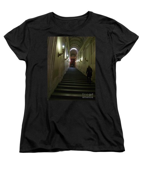 Women's T-Shirt (Standard Cut) featuring the photograph Stairway  by Robin Maria Pedrero