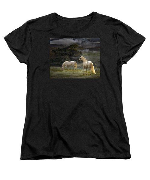 Stallions Of The Gods Women's T-Shirt (Standard Cut) by Melinda Hughes-Berland