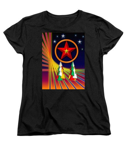 Women's T-Shirt (Standard Cut) featuring the digital art Star by Cyril Maza