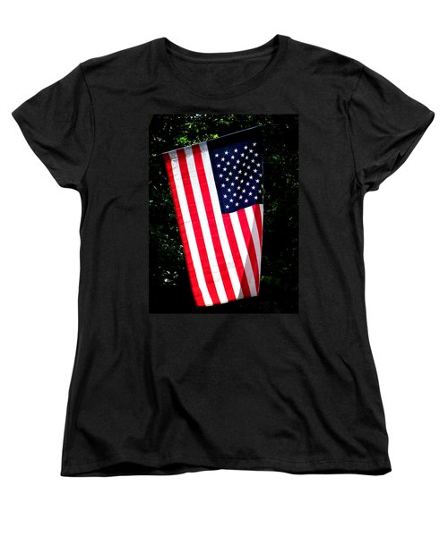 Women's T-Shirt (Standard Cut) featuring the photograph Star Spangled Banner by Greg Simmons