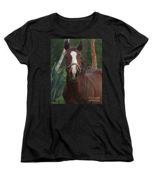 Women's T-Shirt (Standard Cut) featuring the photograph Stared Down by Peter Piatt