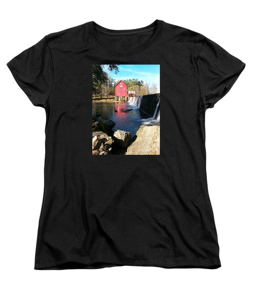 Women's T-Shirt (Standard Cut) featuring the photograph Starr's Mill In Senioa Georgia 2 by Donna Brown