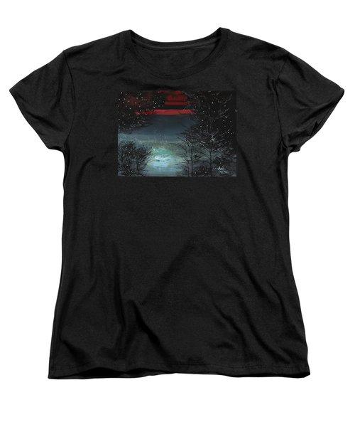 Starry Night Women's T-Shirt (Standard Cut)