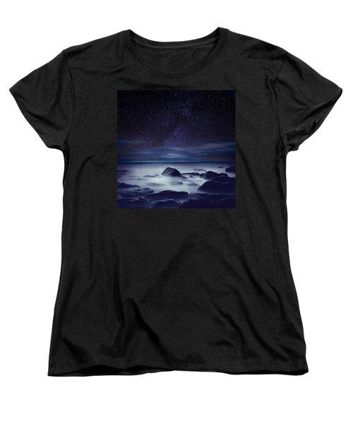Starry Night Women's T-Shirt (Standard Cut) by Jorge Maia