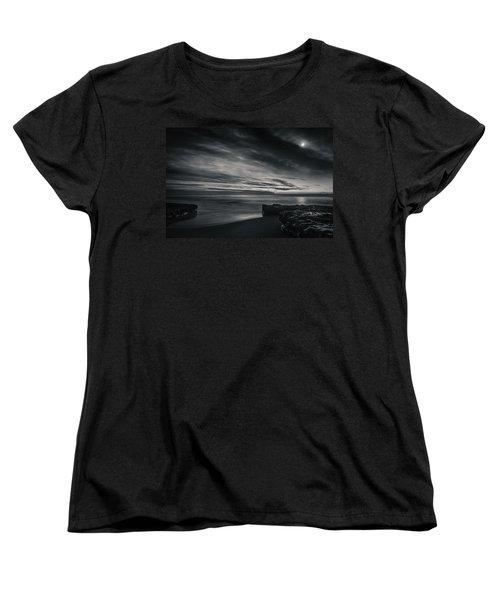 Starry Night Women's T-Shirt (Standard Cut) by Linda Villers