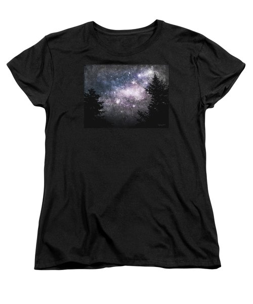 Women's T-Shirt (Standard Cut) featuring the photograph Starry Starry Night by Cynthia Lassiter