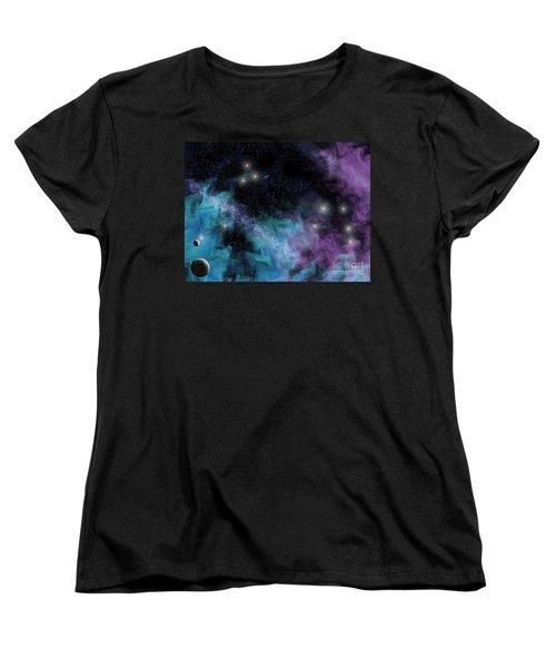 Starscape Nebula Women's T-Shirt (Standard Cut) by Antony McAulay