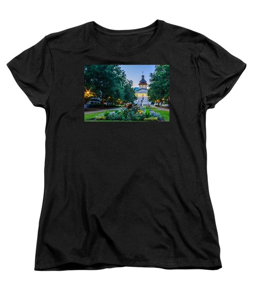 State House Garden Women's T-Shirt (Standard Cut) by Rob Sellers