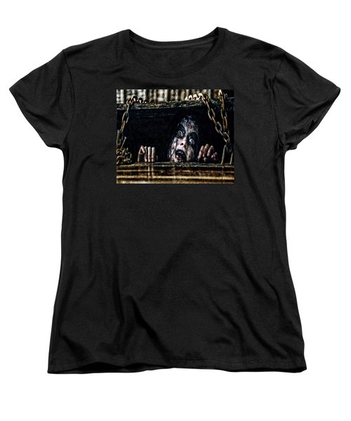 Stay Out Of The Basement Women's T-Shirt (Standard Cut) by Joe Misrasi