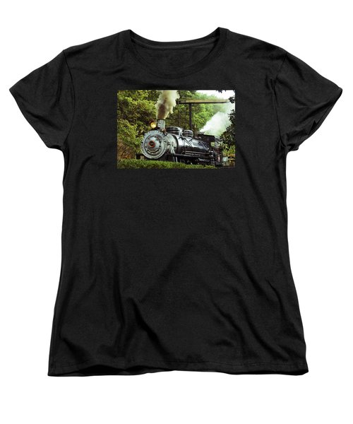 Steam Engine Women's T-Shirt (Standard Cut) by Laurie Perry